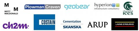 Logos of our consultant, contractor and asset management partners