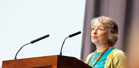 Dr Jennifer Schooling speaking at an event