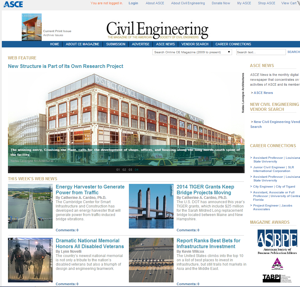 American Civil Engineering Magazine covers CSIC
