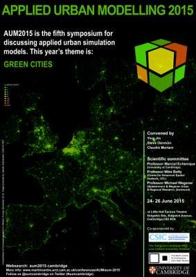 Applied Urban Modelling (AUM) 2015 explores green cities