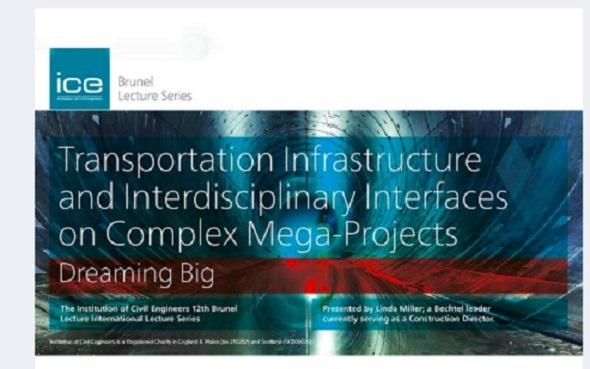Transportation Infrastructure and Interdisciplinary Interfaces on Complex Mega-Projects, Cambridge